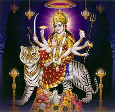 Vaishno Devi - Hindu Posters (Reprint on Card Paper - Unframed)