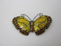 Large Edwardian C 1917 John Atkins Enamel Silver Butterfly Brooch | eBay