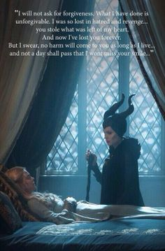 Maleficent. Loved the way they wrote her, the way Angelina played her. An excellent movie, I loved it!