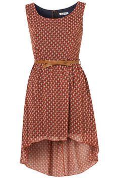 **Dip Hem Pattern Dress by Wal G