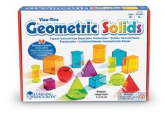 Amazon.com : Learning Resources Viewthru Geometric Solids (14Colored) : Themed Classroom Displays And Decoration : Office Products