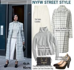 """NYFW Street Style: Nicole Warne"" by helenevlacho ❤ liked on Polyvore"