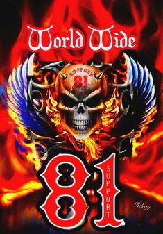Hells Angels WorldWide Support Store//Big Red Machine World Hells Angels Support81 Porte-monnaie 19 cm
