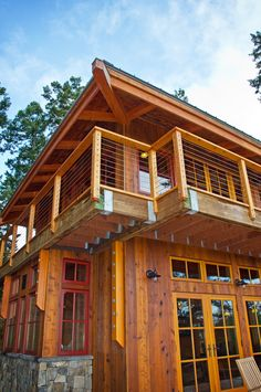 Guest House Situated in the highlands and surrounded by tall Douglas firs, this forestry lookout tower design incorporates panoramic vistas through wrap-around windows and an opening glass wall. A timber frame cultivated from reclaimed beams is accented with history ridden car decking and heavy textured flooring. With just under 900 square feet, this cozy cabin…
