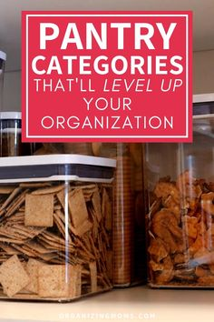 How to use pantry categories to organize your food storage space. A simple pantry organization idea that makes a huge difference! #organizingmoms Kitchen Cabinet Organization, Organization Hacks, Kitchen Storage, Food Storage, Storage Spaces, Pantry Laundry Room, Kitchen Pantry, Declutter, Organize
