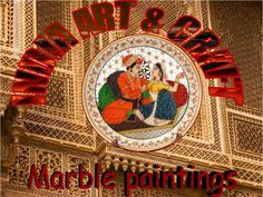 Types of Indian Painting have evolved in a parallel manner in the course of time. There are different styles of paintings which have emerged in the due course of time in different geographic locations as a result of religious and cultural impact. The paintings of India can be broadly classified as wall paintings and miniature paintings. Marble Painting, Cow Painting, Types Of Indian Paintings, Rajasthani Bride, Marble Jewelry, India Art, Elegant Home Decor, Gold Work, Types Of Art