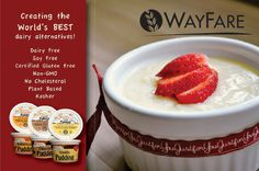 WayFare Non-dairy Pudding | No Cholesterol, 100% Dairy Free, Soy Free, Vegan, No GMOs, Kosher Pareve and Certified gluten-free by the Gluten Intolerance Group.