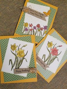 Stampin' Up! You're Inspiring Homemade Greeting Cards, Greeting Cards Handmade, Flower Stamp, Flower Cards, Mothers Day Book, Personalised Calendar, Easter Messages, Penny Black Stamps, Bday Cards