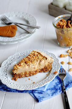 Peanut Butter Ice Cream Pie with Biscoff Cookie Crust