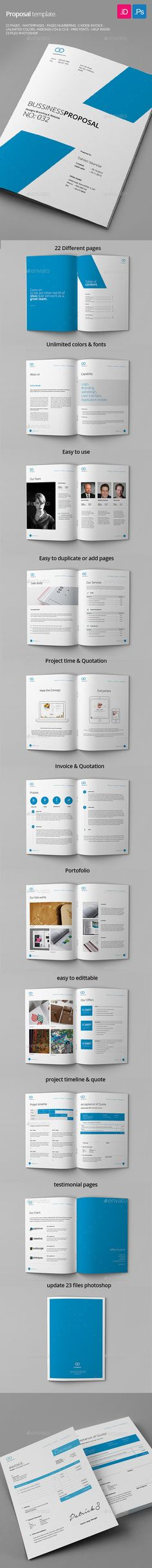 Proposal Proposals, Adobe indesign and Brochure template - bid proposal template word