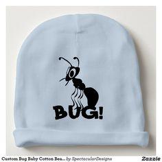 Custom Bug Baby Cotton Beanie