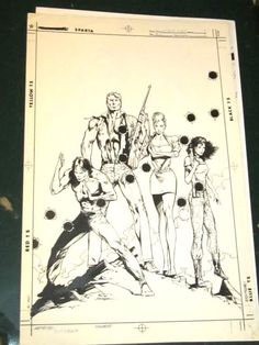 COVER ART -STEALTH FORCE #1 Original Comic Art by Jerry Bingham $399 for a COVER