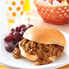 Zesty Sloppy Joes Recipe -For a big family gathering, these sandwiches are a hit. I have never served them without getting recipe requests. A fantastic blend of seasonings in a hearty sandwich means no one can eat just one. —Sandy Abrams, Greenville, New York