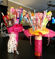 Candy bouquets for daughters 5th grade graduation