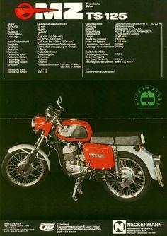 MZ TS 125 (1978) Bike Poster, Motorcycle Posters, Vintage Motorcycles, Cars And Motorcycles, Retro Posters, Classic Bikes, Retro Vintage, Advertising, Bicycle