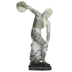 Discus Thrower Sculpture | From a unique collection of antique and modern statues at http://www.1stdibs.com/furniture/building-garden/statues/