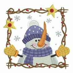 Let It Snow 06 machine embroidery designs