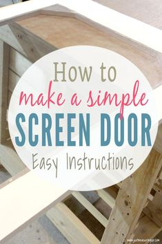 Easy instructions for making a DIY screen door for your home. This wooden screen door is an easy build that you can make from scrap wood. Lots of tips and tricks for building and making the screen door fit perfectly. Wood Screen Door, Sliding Screen Doors, Wooden Screen, Woodworking Projects That Sell, Diy Wood Projects, Fine Woodworking, Woodworking Ideas, Diy Home Improvement, Wooden Diy