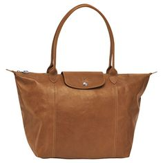 Le Pilage Cuir tote bag from Longchamp in Camel