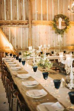 Reception Inspiration / Elegant Styling against Raw Wooden Tables / Wedding Style Inspiration / LANE (instagram: the_lane)