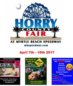 Horry County Fair Days are Coming April 7-16, 2017 to Myrtle Beach Speedway | Myrtle Beach | South Carolina | Fun For Everyone | Event
