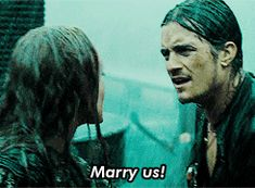 That moment before Will Turner realizes his true love isn't going to run away with Barbossa. | 11 Times Orlando Bloom's Legolas Was Showing