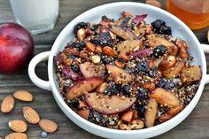 Breakfast Quinoa with Fruit & Almonds - peace. love. quinoa