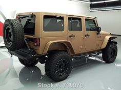 2015 Matte Tan and Black Customized Jeep Wrangler http://www.iseecars.com/used_cars-t5989-used-jeep-wrangler-for-sale