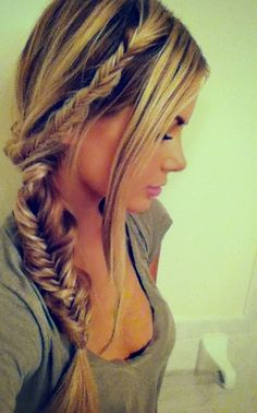fishtail braids-now if only I could learn how to fishtail braid...