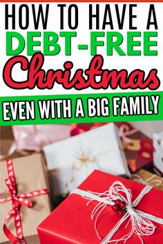 Do you want to have a great Christmas without adding to your debt? Here are some tips to help you have an amazing Christmas without the headache of debt! #debtfreetips #debtfreechristmas #christmastipsandtricks #christmasbudget #howtosavemoneyatchristmas #christmasmoneysavingsplan #christmasmoney #moneysavingtips #moneysavingtricks