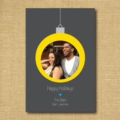 Holiday Ornament DIY Printable Photo Greeting Card