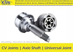 Problem with your CV Joints, Axle Shaft or Universal Joints? We can assist you at our Bronkhorstspruit and Delmas branches. Universal Joint, Branches