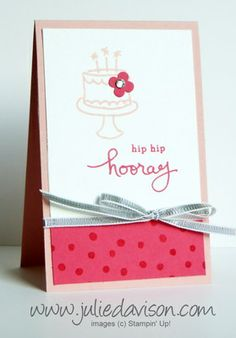 Endless Birthday Wishes Mini Card - Julies Stamping Spot -- Stampin Up! Project Ideas Posted Daily