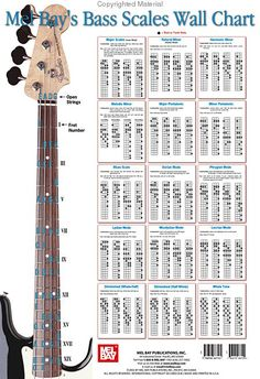 Bass Scale Wall Chart