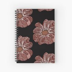 'Contour Flower Design' Spiral Notebook by iouryRB My Bubbles, Get Free Stuff, Notebook Design, Sell Your Art, Flower Designs, Contour, Spiral, My Arts, Art Prints