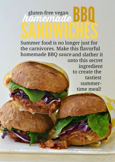 Homemade Vegan BBQ Sandwiches #glutenfree #vegan #BBQ