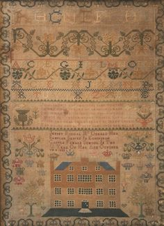 Jennet Riddal McDonald, her Sampler Sewed in Edinburgh Castle Female School in the 12 Year of her Age, October 8 1830.