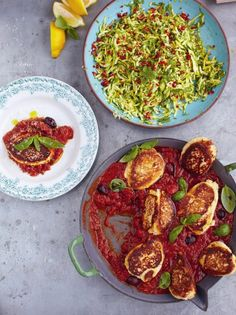 Ricotta Fritters with zucchini salad | 15min meals | Jamie Oliver Recipes