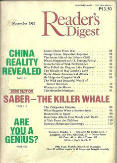 Reader's Digest November 1982