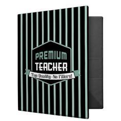 Vintage Premium Teacher 3 Ring Binder