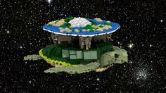 Have an idea for a bookish-themed LEGO set? Check out and vote for current book-related LEGO proposals and get some inspiration for your own project. Terry Pratchett Discworld, Lego Animals, All The Way Down, Geek Out, Lego Brick, Lego Creations, Lego Sets, Legos, Geek Stuff