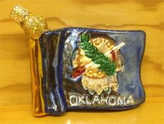 Oklahoma State Flag Christmas Ornament