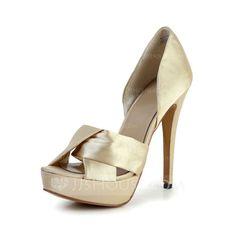 Zapatos de novia - $69.99 - De mujer Satén Tacón Stilettos Encaje Plataforma Sandalias (047029127) http://jjshouse.com/es/De-Mujer-Saten-Tacon-Stilettos-Encaje-Plataforma-Sandalias-047029127-g29127?ver=1