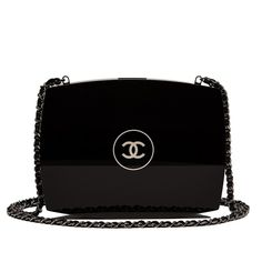 Chanel Black Compact Powder Minaudiere Clutch Bag |... ($9,500) ❤ liked on Polyvore featuring bags, handbags, clutches, purses, bolsas, chanel, black clutches, black minaudiere, chanel handbags and black purse