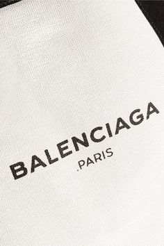 Balenciaga - Navy Cabas Medium Leather-trimmed Canvas Tote - Beige - one size