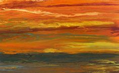 """Sky on Fire-Reflected by Kimberly Conrad Acrylic ~ 28"""" x 25"""""""