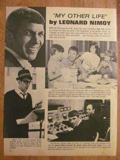 Leonard Nimoy, Star Trek, Full Page Vintage Clipping