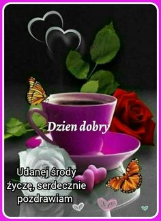 Good Morning, Planter Pots, Mugs, Tableware, Polish, Pictures, Buen Dia, Dinnerware, Bonjour