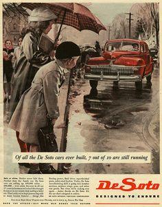 7 Out Of 10 De Sotos    WW2 ad for De Soto. I believe that's a 1942 De Soto.