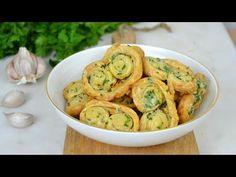 Palmeritas saladas de hojaldre con ajo y perejil. Receta fácil paso a paso con vídeo